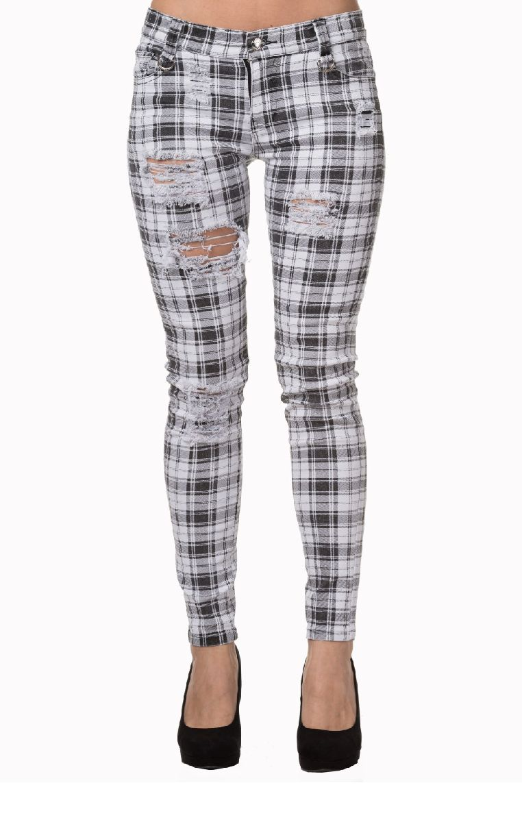 Move On Up Trousers White TR4053
