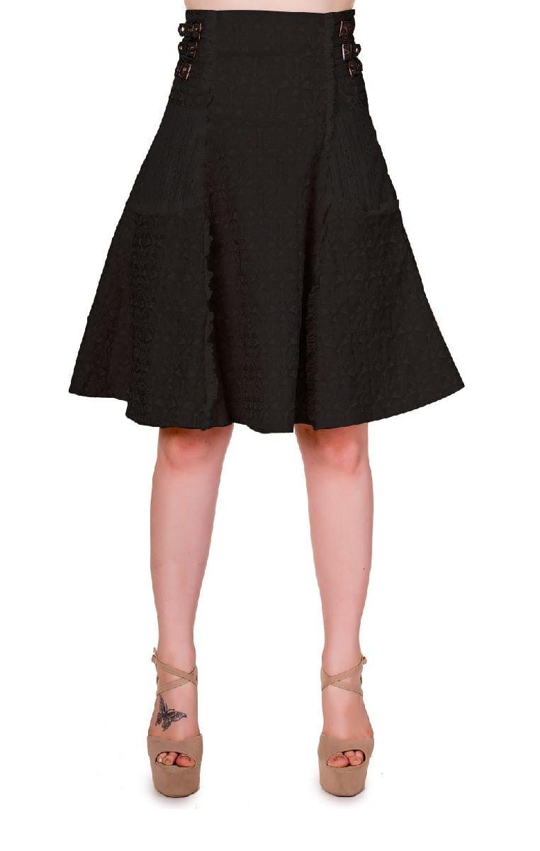 Rise Of Dawn Skirt Black SBN246