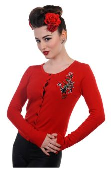 Anchor Cardigan Red CBN306