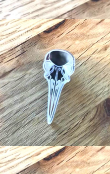 Bird Skull Pin Badge