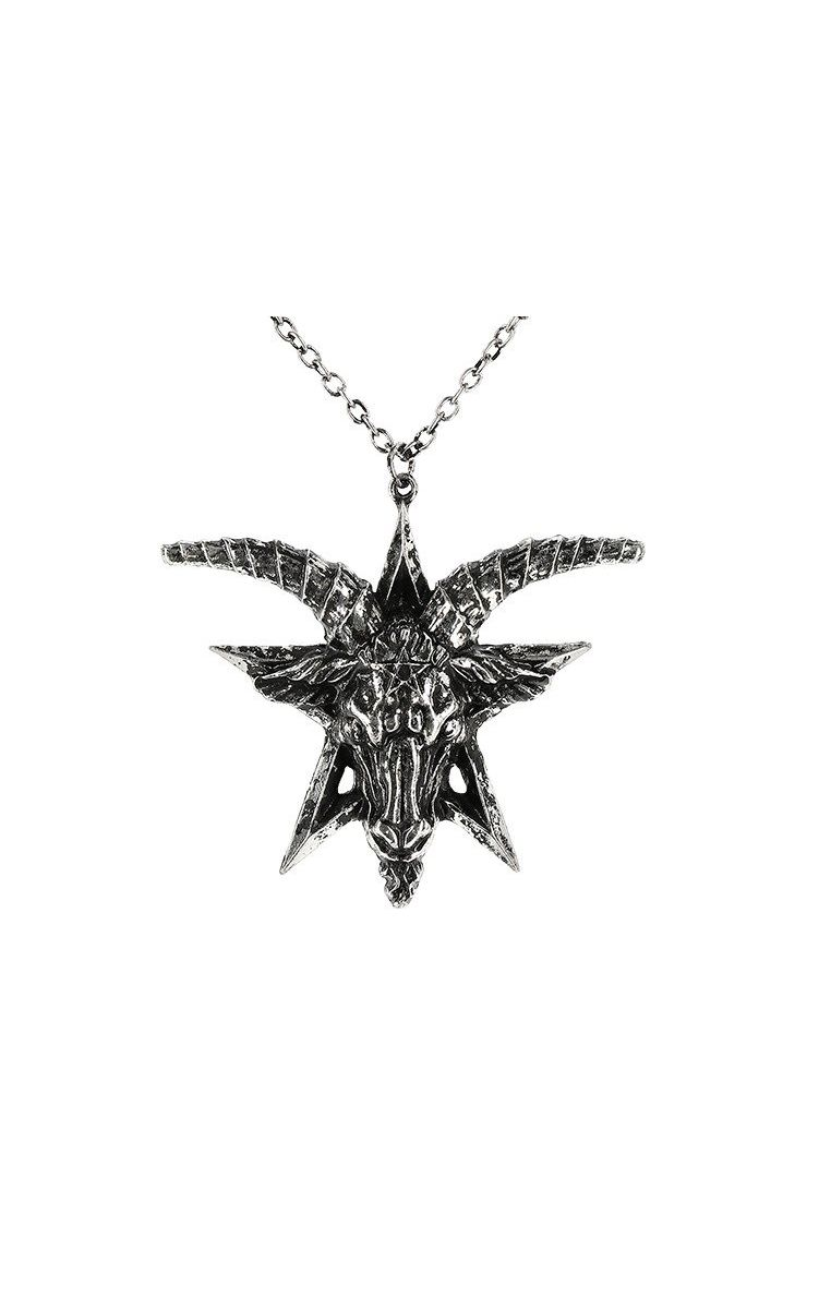 Baphomet Necklace Silver