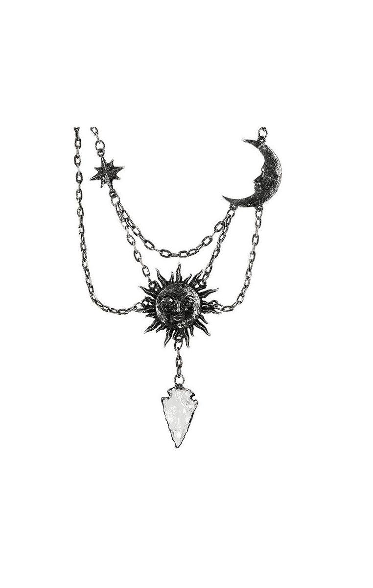 Moon & Sun Necklace Silver