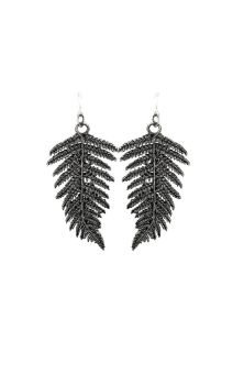 Fern Earrings Silver