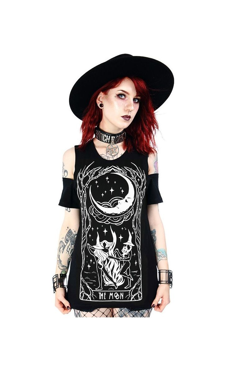 Witches Chant Cold Shoulder T-shirt