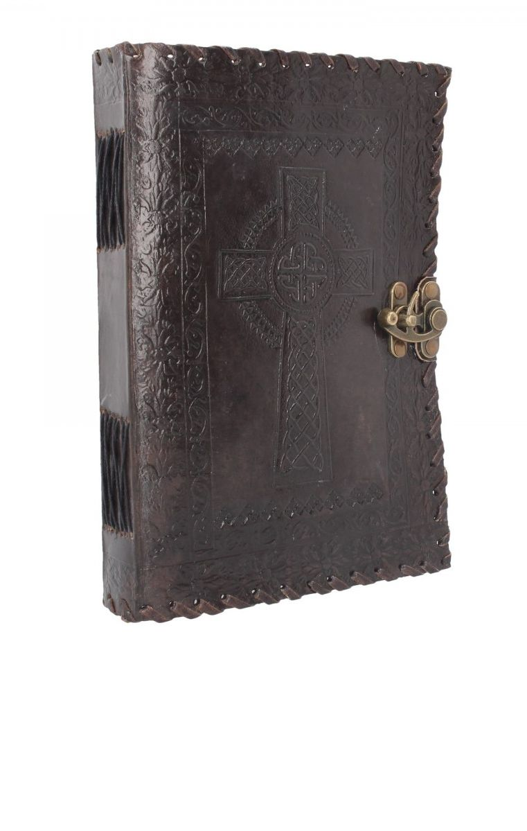 Celtic Cross Leather Journal 25 x 18cm