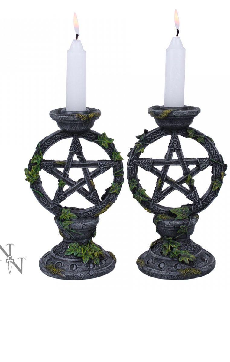 Wiccan Pentagram Candlesticks