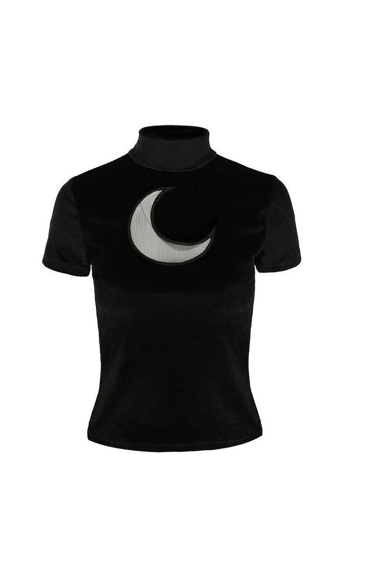 Black Velvet Crescent Moon Top