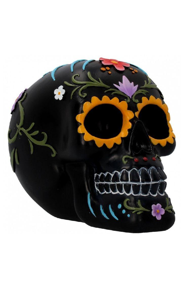 Floral Festivities Skull Figure