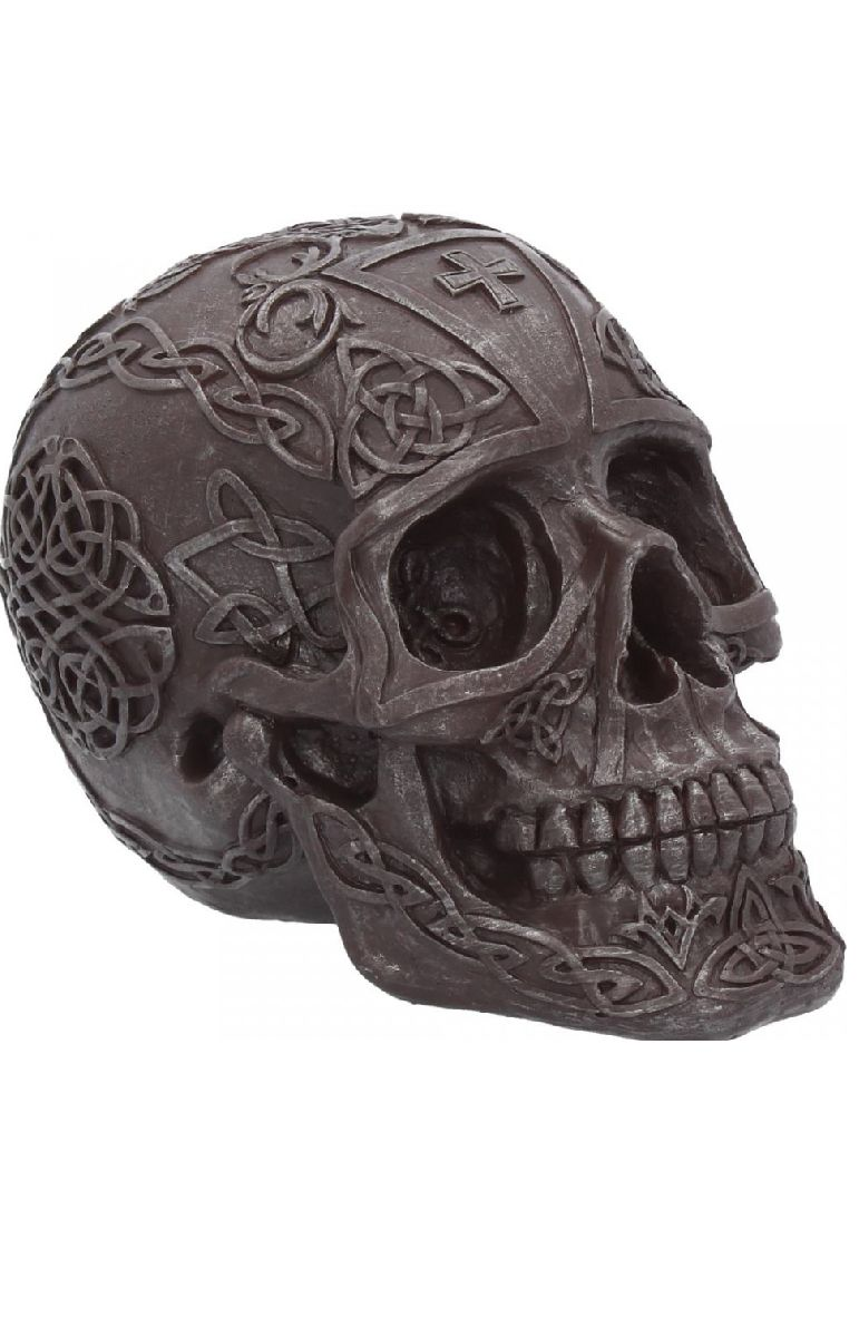 Celtic Iron Skull Figure