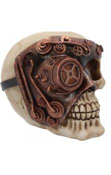 Monocle Man Skull Figure