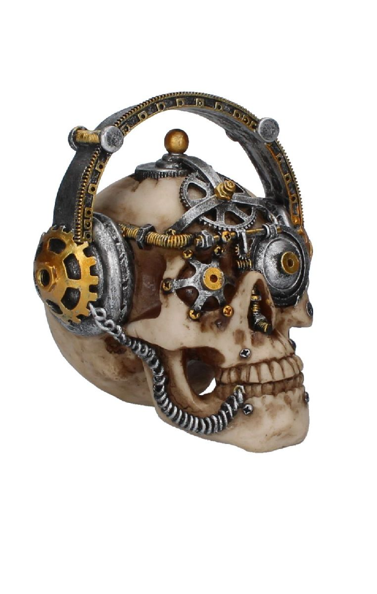 Techno Talk Skull Figure