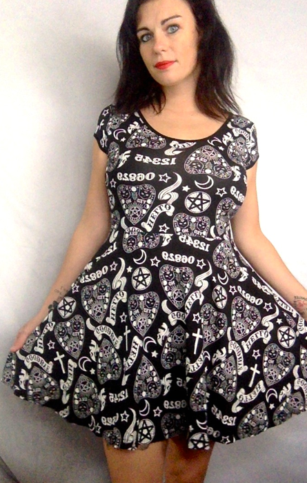 Teen Goth Hello Dress RRP £28
