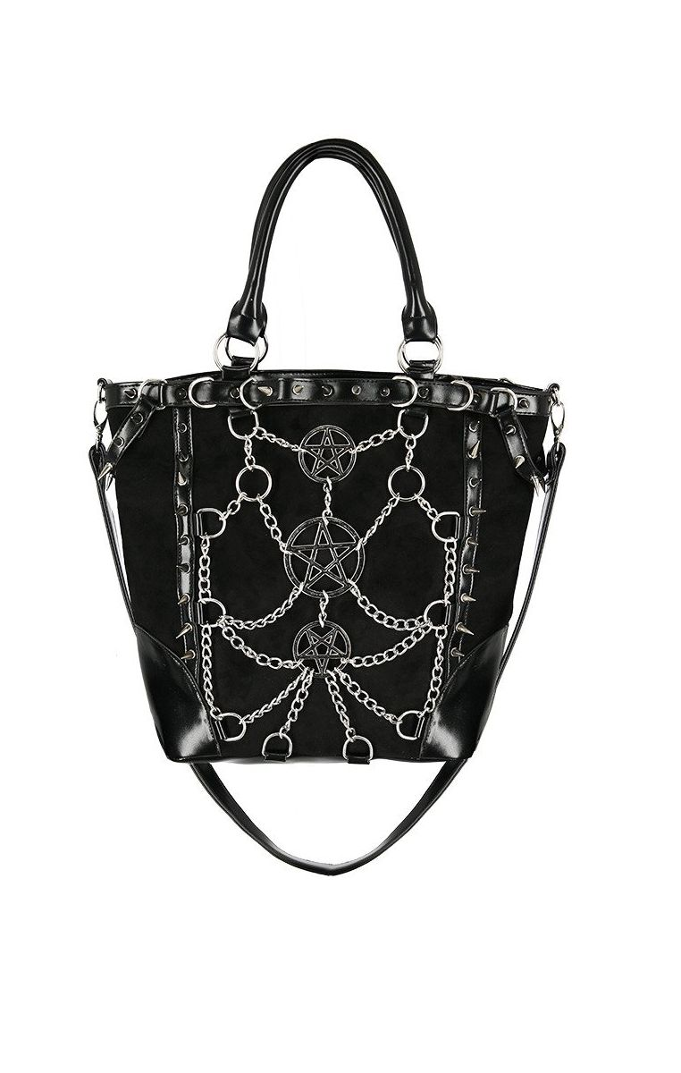Chained Pentagram Tote Bag