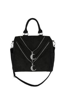 Double Zipped Moon Shopper Bag