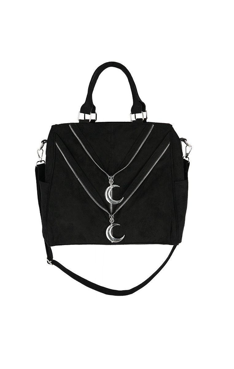 Double Zipped Moon Shopper Bag
