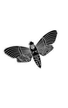 Death Head Moth Enamel Pin RRP £4.99