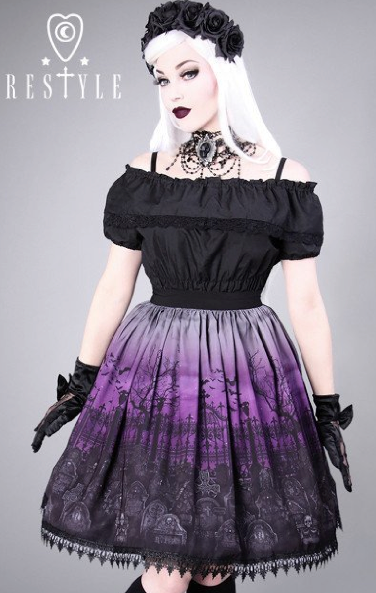 Cemetery Skirt - Purple RRP £49.99