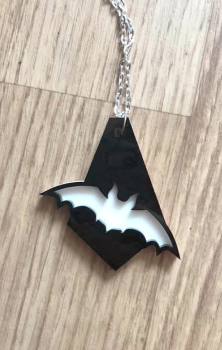 Bat Drop Layered Necklace