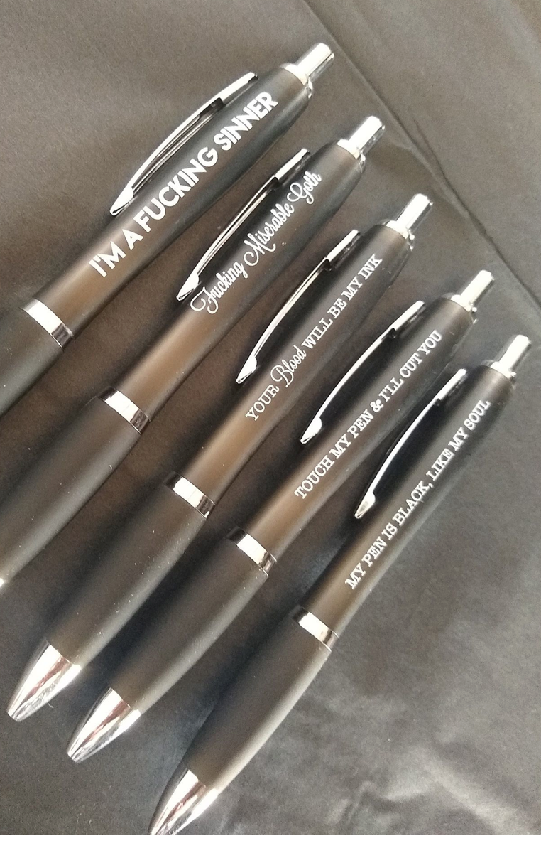 Profanity Goth Pens - Pack of 5 RRP £11.99