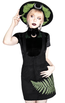 Fern Velvet Forest Suspender Dress