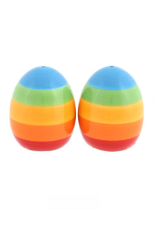 RAINBOW SALT AND PEPPER SHAKERS RRP £9.99