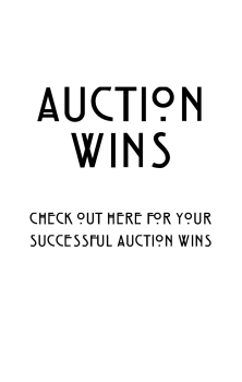 Auction Win 29th November - PLEASE READ THE INSTRUCTIONS