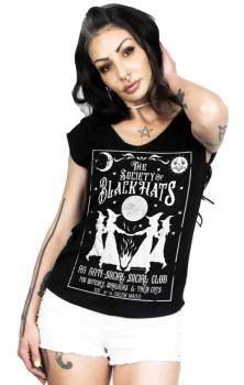 Black Hats V Neck T Shirt RRP £29.99 2XL 16-18