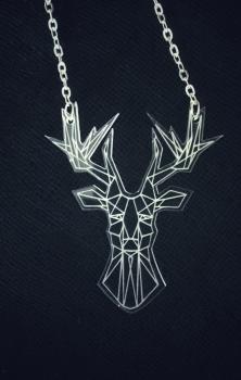 Origami Reindeer Necklace