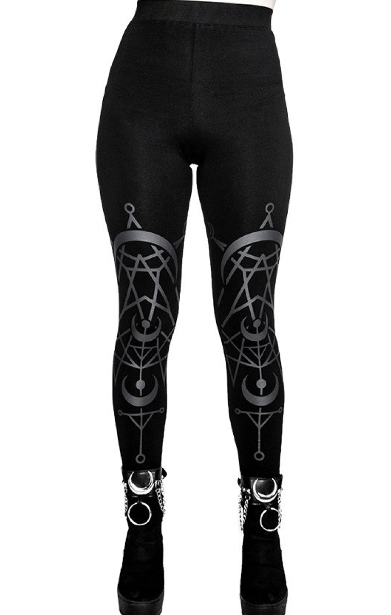 Twin Moon Gothic Leggings