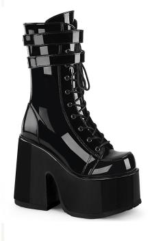 Camel 250 Black Patent Boots