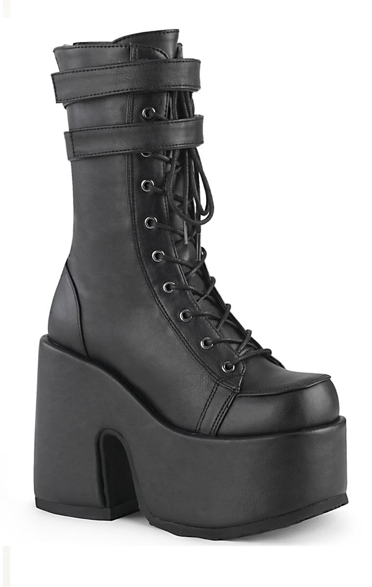 Camel 250 Black Vegan Boots