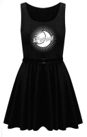 BLACK MAGIC WOMAN SKATER DRESS