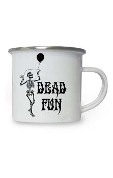 Dead Fun Enamel Mug