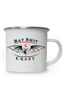 Bat Shit Crazy Enamel Mug