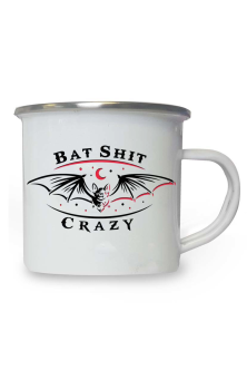 Bat Shit Crazy Enamel Mug