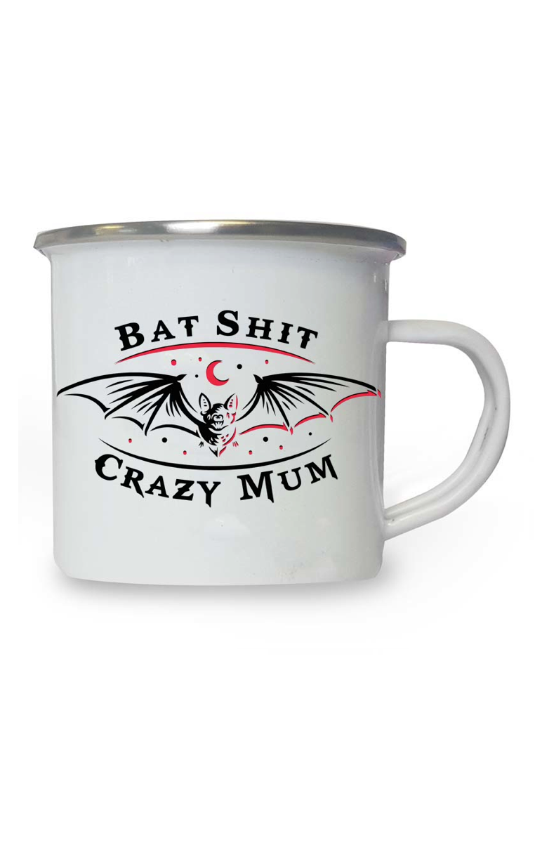 Bat Shit Crazy Mum Enamel Mug