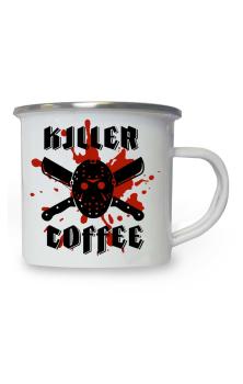 Killer Coffee Enamel Mug