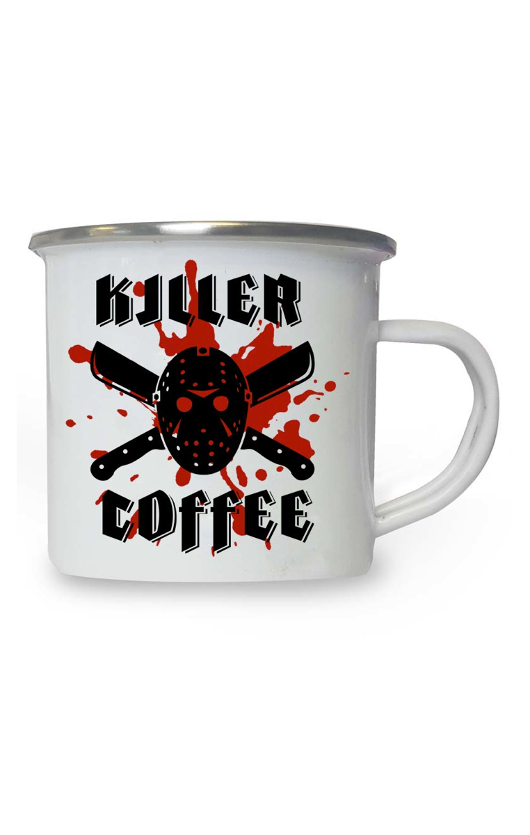 Killer Coffee Enamel Mug