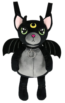 Green Eyed Cat Mascot Backpack