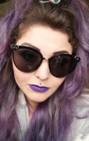 Fuck Off Heart Oval Sunglasses