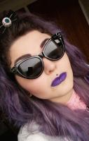 Fuck Off Heart Cat Eye Sunglasses