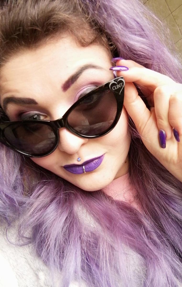 Cunt Heart Cat Eye Sunglasses