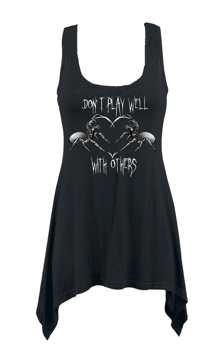 Don't Play Well With Others Vest Dress