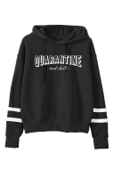 Quarantine & Chill Stripe Hood