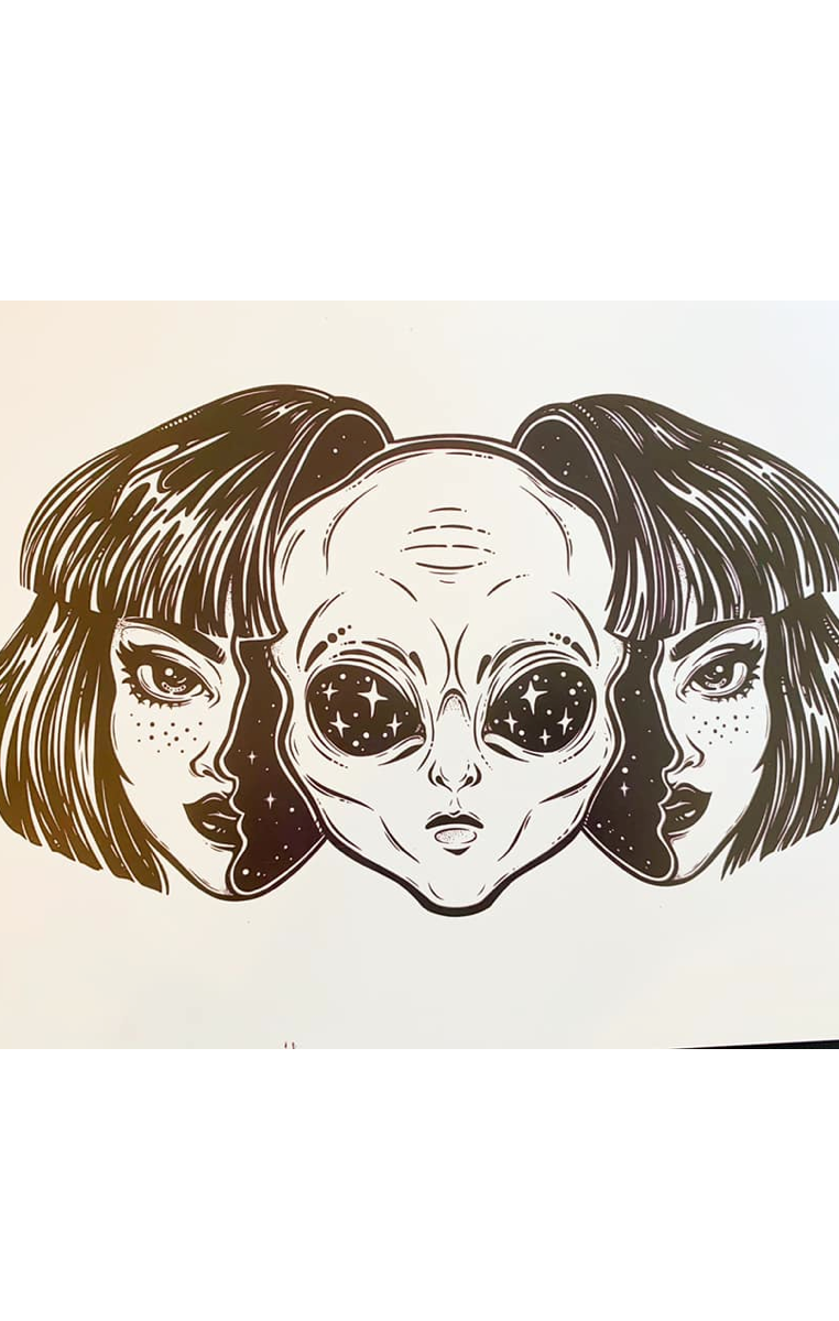 We Are Aliens A4 Print RRP £4.99