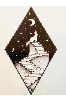 Celestial Stairway A4 Print