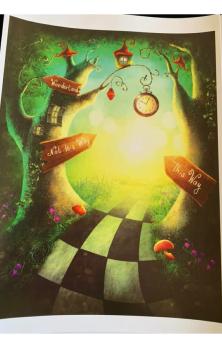 This Way To Wonderland A4 Print