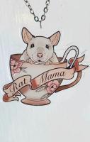 Rat Mama Teacup Necklace