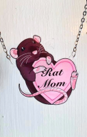 Rat Mom Heart Necklace