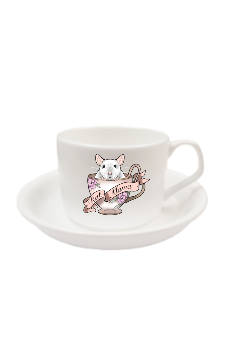 Rat Mama Cup And Saucer RRP £9.99